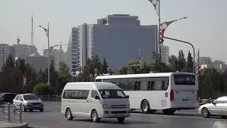 The streets of Ashgabat. Улицы Ашхабада.
