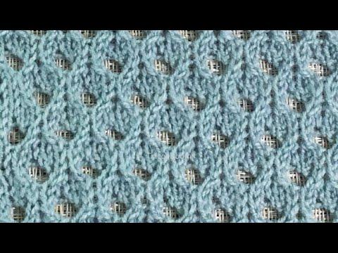 Вязание сетка ажурная спицами