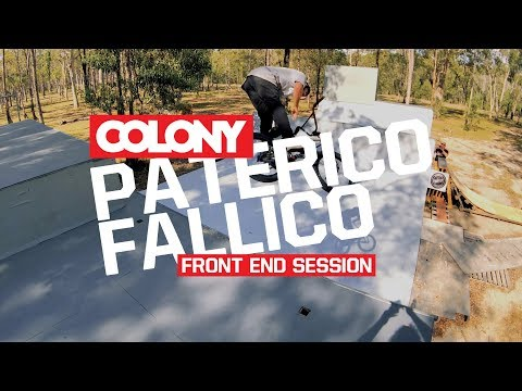 Paterico Fallico setup some front brakes last week and immediately came through with some crazy and clean moves on the Colony backyard ramp. Shot by Clint ...