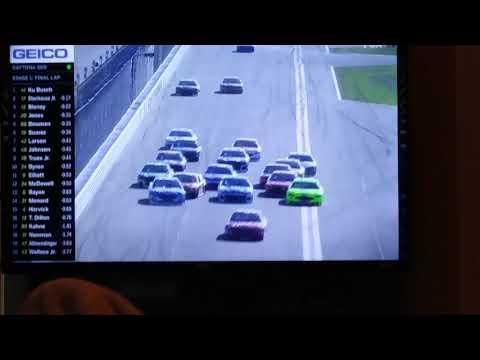 2018 Daytona 500 Jimmie Johnson Crash