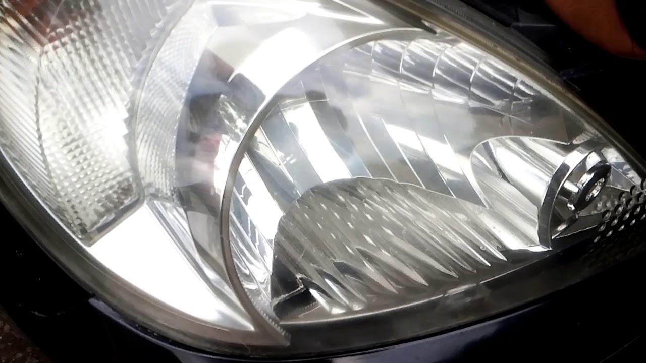 cara mengambil serpihan bohlam di head lamp inova