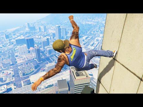GTA 5 Funny/Crazy Jump Compilation #12 (GTA V Fails Funny Moments)