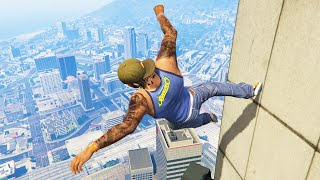 GTA 5 Funny/Crazy Jump Compilation #12 (GTA V Fails Funny Moments)