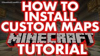 How To Install Custom Modded Minecraft Maps : PC + MAC Tutorial Video