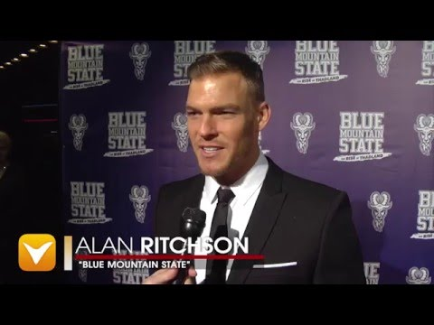 Johny Pach - V Channel - Blue Mountain State premiere interview with Alan Ritchson