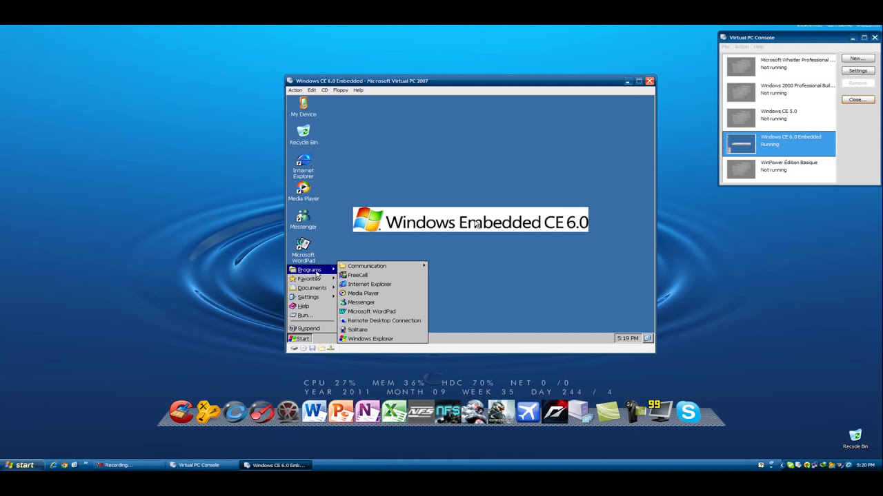 Windows Ce 6 0 Embedded (Personal Digital Assistant) In Microsoft Virtual  Pc 2007  Gopulanand886 02:59 HD