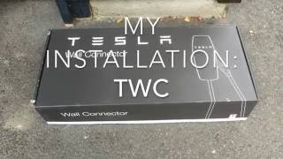 TWC: Tesla Wall Connector -my installation