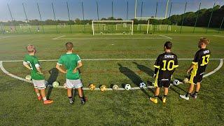 Freekickerz vs unisport - football battle: penalty, power & crossbar challenge