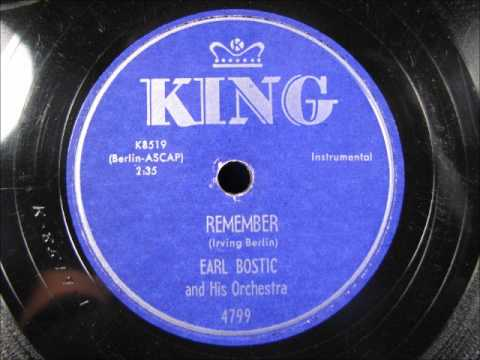 REMEMBER by Earl Bostic