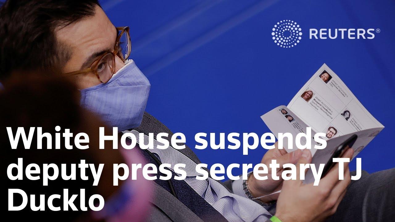 White House suspends deputy press secretary TJ Ducklo for ...