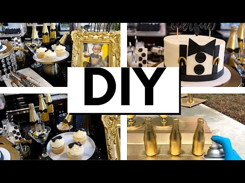 DIY MR. ONEDERFUL PARTY DECORATIONS WITH ITEMS FROM DOLLAR TREE, WALMART, AMAZON