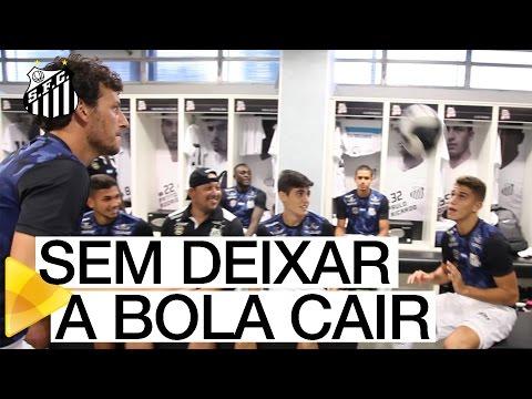 Desafio do cesto na Vila Belmiro