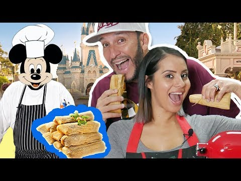 ODM - Making 2 Types Of Tamales With Secret Disney Chef!!