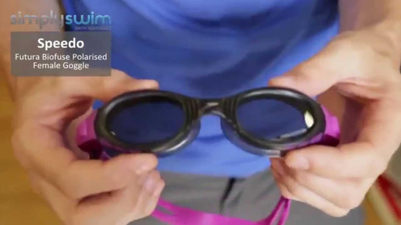 Speedo Futura Biofuse Polarised Female Goggle - www.simplyswim.com - YouTube 8d8341669179
