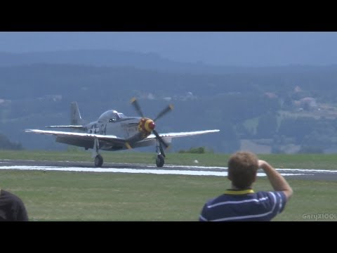 Flight Festival 2013 - P-51D Mustang , Yak-3 , AT-6 , Extra 330LT , EC-120 and more