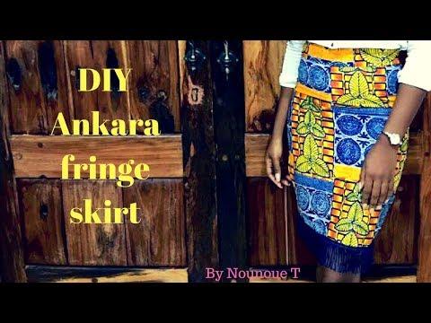 DIY : Fringe Ankara Skirt