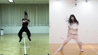NO_WAY_MAN のイントロ部分 #比較動画 左が #AKB48 横山結衣 右は HKT48...