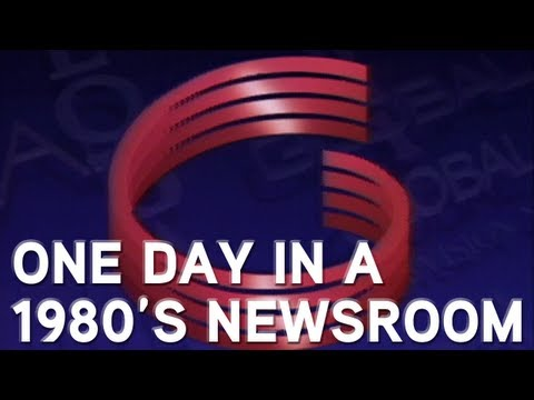 Day in the life of a 1980's newsroom [GLOBAL TV ARCHIVE]