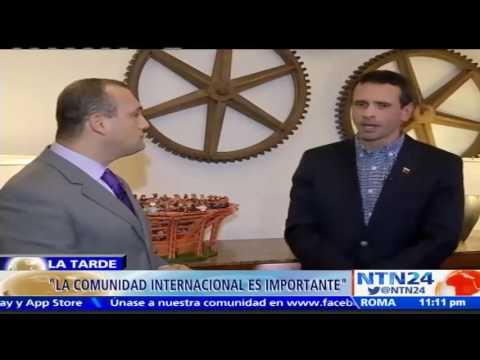 Maduro eligió el camino de la dictadura: Henrique Capriles Radonski a NTN24