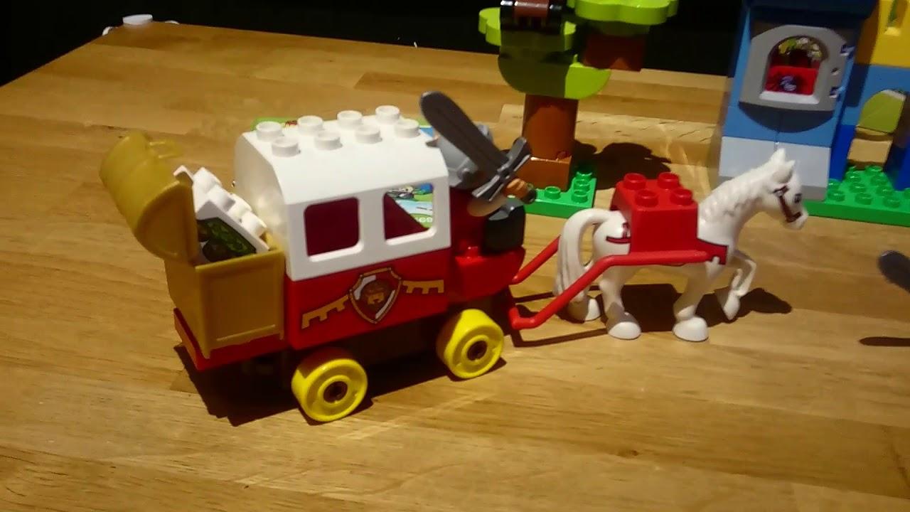 Lego Duplo 1 X Figur Ritter Schwarz Gelb Rot Drache Axt 4785 4777