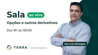 Sala ao Vivo - Daytrade  Dólar,  Índice, Opções - Derivativos com Mauricio Battaglia - 15/10/19