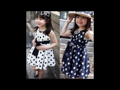 Детские платья в горошек