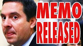 Infamous Nunes Memo Finally Released