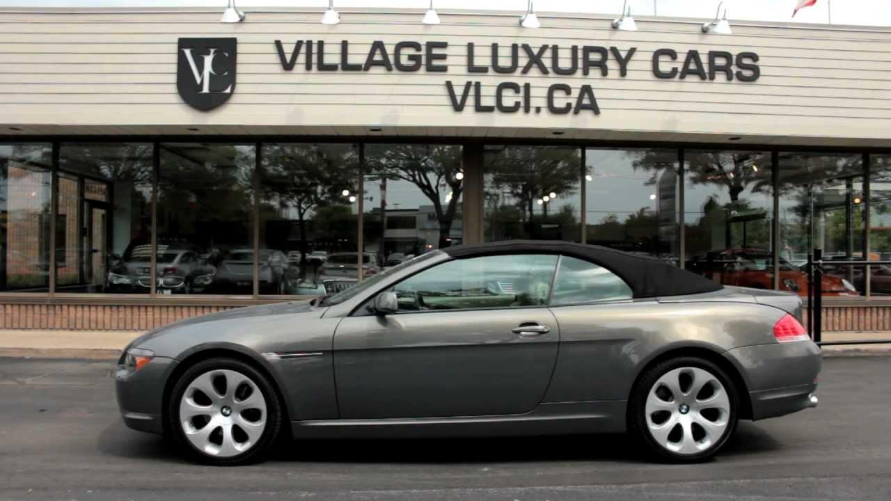 2005 bmw 645ci cabriolet village luxury cars markham. Black Bedroom Furniture Sets. Home Design Ideas