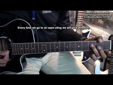 how to use a guitar pick easy down up & alternate picking lesson