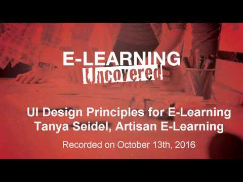 User Interface Design Principles for E-Learning