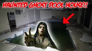 PARANORMAL ACTIVITY IN THIS HAUNTED POOL HOUSE!