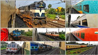 [14 IN 1] Xing With ICF & LHB Trains Compilation At Eastern Railways / Indian Railways   