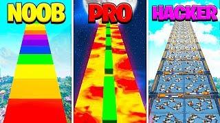 NOOB vs PRO vs HACKER Deathrun in Creative Fortnite!