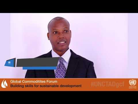 Dr. Nibikora Ildephonse at UNCTAD's Global Commodities Forum 2018