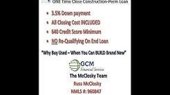FHA One Time Close Construction Perm Loan