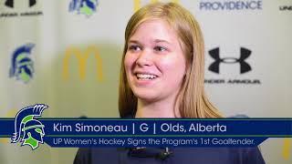 University of Providence Women's Hockey Signs Goalie Kim Simoneau