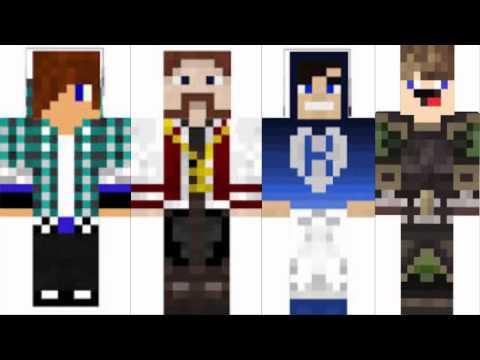Minecraft Spielen Deutsch Skins Para Minecraft Youtubers Bild - Skins para minecraft pe de youtubers