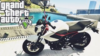 GTA V ROLE DE YAMAHA XJ6 N WHITE AND RED- MOD MOTO