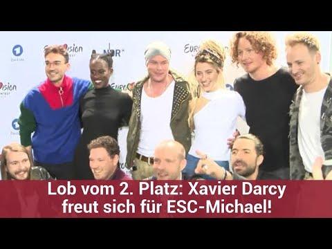 Lob vom 2. Platz: Xavier Darcy freut sich für ESC-Michael! | CELEBRITIES und GOSSIP