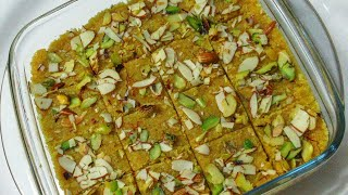 Mohanthal Mithai Recipe - Traditional Gujarati Mohanthal Recipe - Authenthic Indian Sweets Recipe
