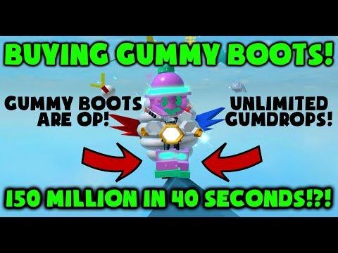 BUYING OP GUMMY BOOTS! - UNLIMITED GUMDROPS! - Roblox Bee Swarm Simulator