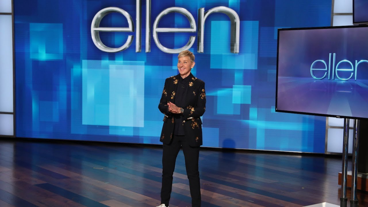 Ellen Calls Out Andy and Her Writer for Manspreading