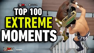 WWE 2K16 Top 100 Extreme Moments!
