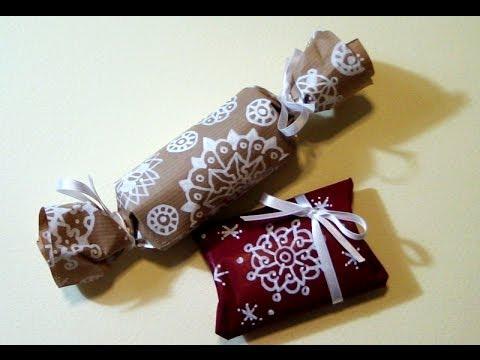 Tutorial pacchetti di natale fai da te riciclando i rotoli - Pacchetti natalizi fai da te ...
