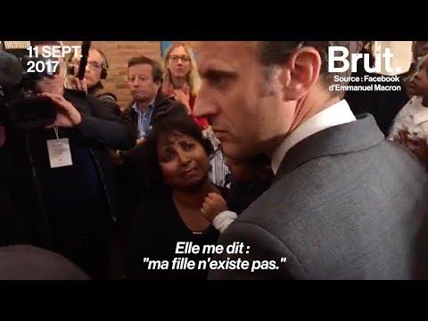 Emmanuel Macron face à la détresse d'une mère d'enfant apatride