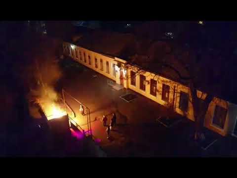 Новости-N: В Николаеве в Центре туризма подожгли мусорник