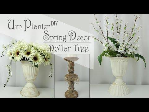 Dollar Tree DIY Urn Planter  part 1 /  Spring Decor