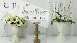 Dollar Tree DIY Urn Planter /  Spring Decor