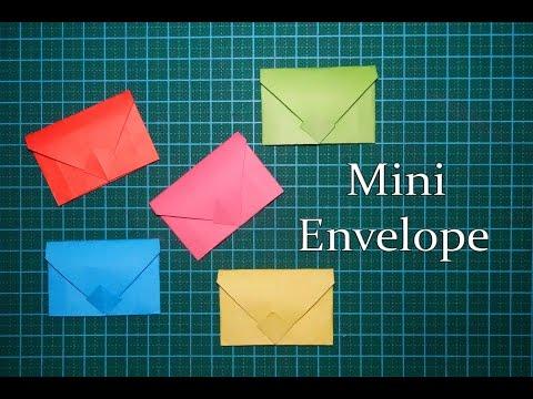 DIY || Mini Envelopes ✉️ For Scrapbook/explosion box