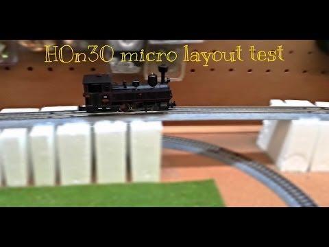 HOn30/Hoe 009 micro train layout testing (work in progress)